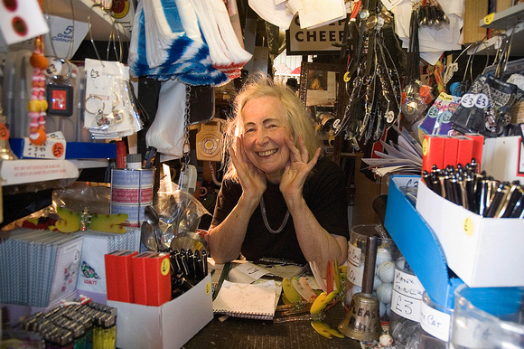 "Stella Pixton, artist, poet, proprietess ""Jurby Junk"", Isle of Man"
